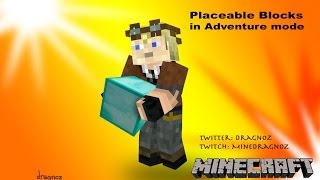 canPlaceOn Placeable blocks in Adventure mode minecraft 1.8