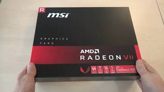 Unboxing / Computeruniverse - MSI AMD Radeon VII 16G