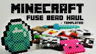 Minecraft Perler Fuse Hama Beads Fan Art Haul + Templates!
