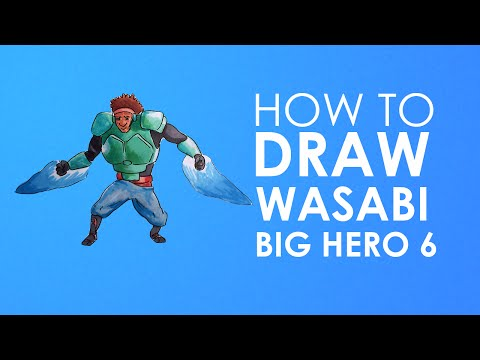 Disney Heroes Drawings How to Draw Wasabi Big Hero