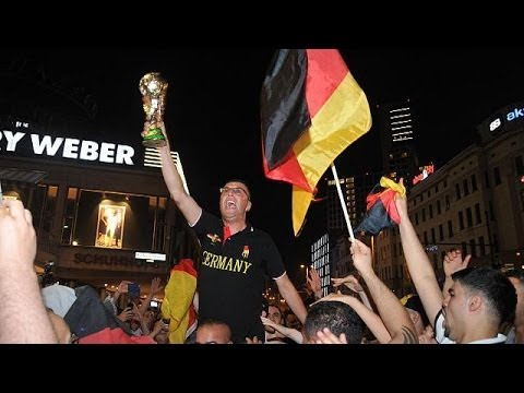 Party time in Berlin as Germany overwhelm Brazil in  7-1 World Cup defeat