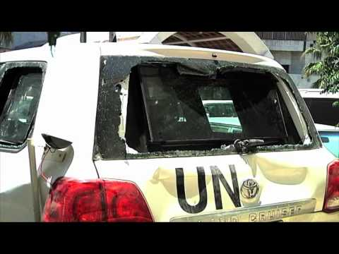 Syria - UN Shooting