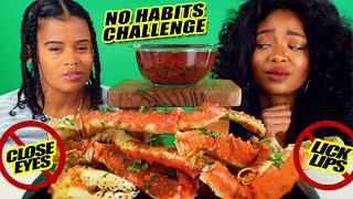 "KING CRAB ""NO HABITS"" CHALLENGE MUKBANG"