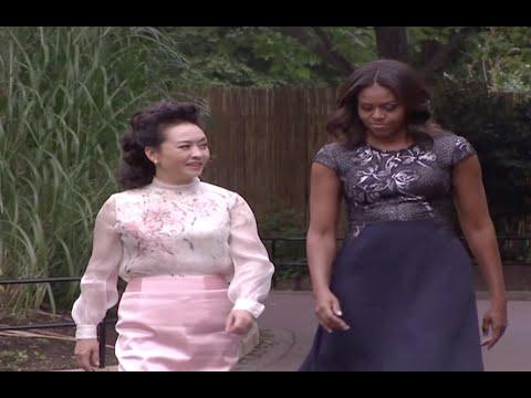 Chinese, US First Ladies Visit Pandas at National Zoo