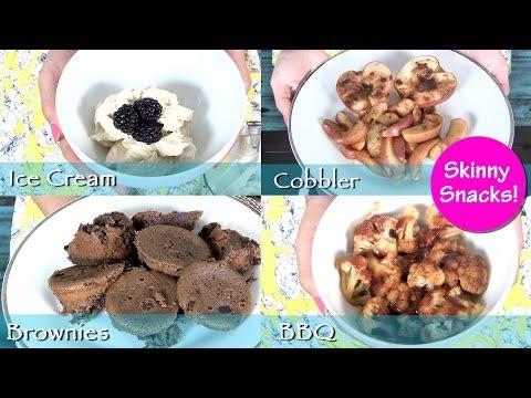 Skinny Snacks! Quick Fat Burning Desserts & Snacks!  Brownies, Ice Cream, BBQ