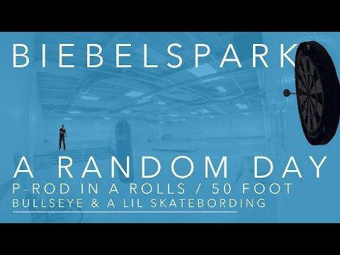 50 Foot Bulls Eye PRod in a Rolls Royce and Skateboarding