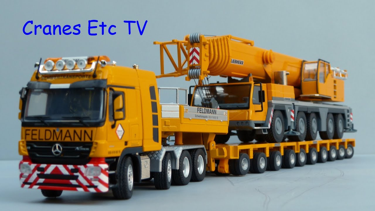 Conrad mercedes benz titan tractor goldhofer trailer for Feldmann mercedes benz