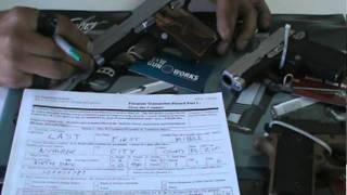 FIREARMS BACKGROUND CHECK FORM BASICS