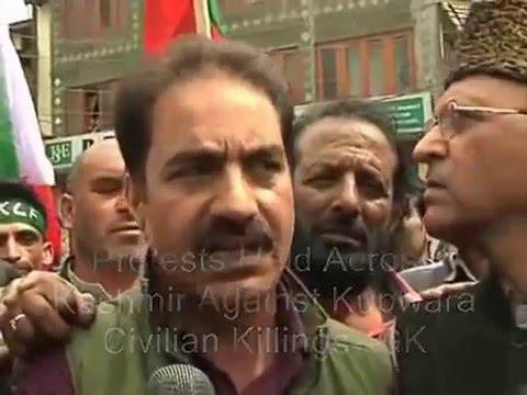 Protests Held In Kashmir Against Handwara Civilian Killings