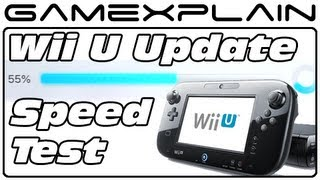 Wii U Update Speed Test Head-to-Head