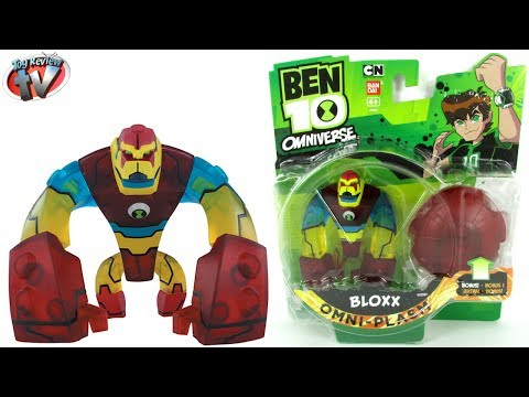 Ben 10 Omniverse Omni-Plasm Bloxx Action Figure Toy Review. Bandai