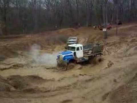 huge 4x4 truck with awesome motor muddin at custom different