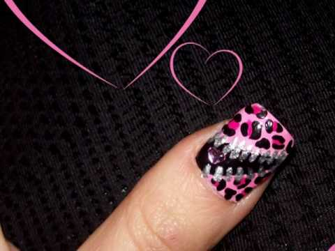 Unzip my heart - Valentine's day nail design