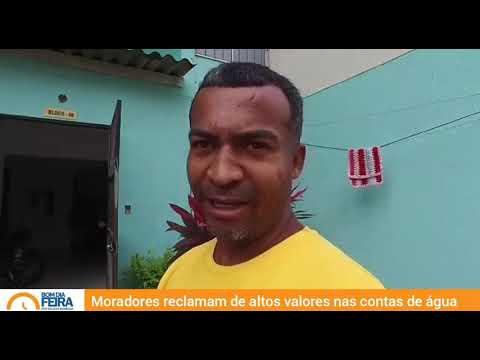 Moradores reclamam de altos valores na conta de água em Feira de Santana