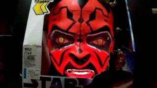Hasbro Star Wars Darth Maul Electronic Helmet demo 1/2