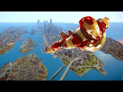 Grand Theft Auto IV - Ambush Canyon (NFS SHIFT2) [Map MOD] + Iron Man IV MOD HD