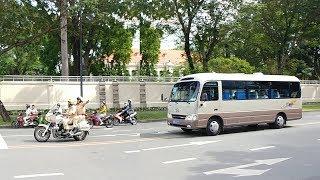 CSGT mở đường cho Ủy viên bộ chính trị Trung Quốc - Chinese Communist VIP convoy