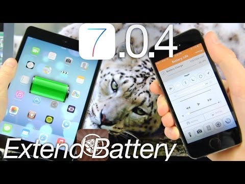 iOS 7 Increase Jailbreak Battery Life 7.0.4 Tips For iPhone 5S.5C 4S iPad. iPod Touch & Improvements