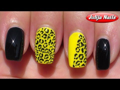Видео как нарисовать леопардовые ногти