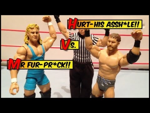 GTS WRESTLING: Fantasy warfare!! Mr. Perfect vs Curtis Axel match action figures matches animation