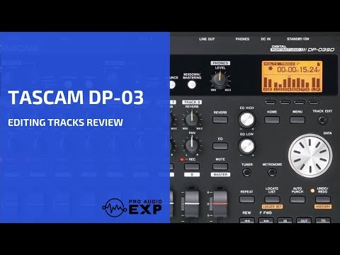 Tascam DP-03 Editing Tracks Review