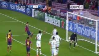 FC Barcelona vs Celtic 6-1~ All Goals & Highlights HD (11/12/2013)