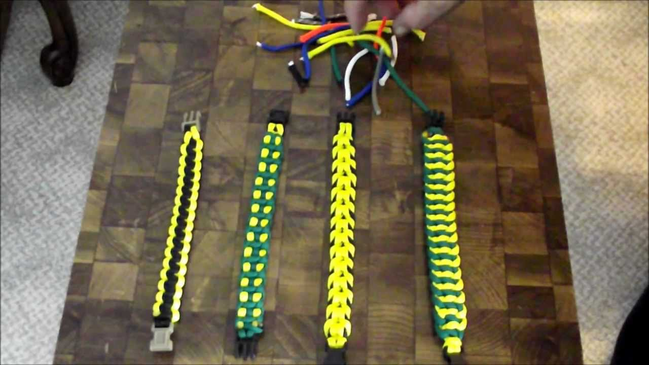 Paracord bracelet math formulas reduce your scrap youtube for Things made out of paracord