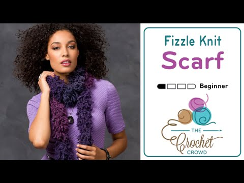 Learn to Knit with Fizzle Yarn by Red Heart Boutique