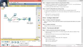 9.2.1.4 - 11.2.1.4 Packet Tracer - Configuring Static NAT