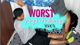 THE WORST YOGA CHALLENGE EVER (HILARIOUS)