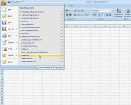 Excel 2007 - Developer Tab