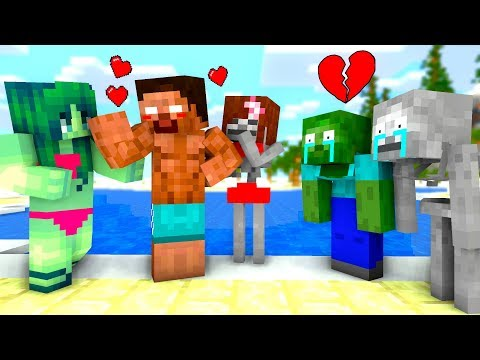 Monster School : Swimming Challenge - Minecraft Animation