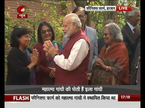 PM Modi visits Phoenix settlement in Durban, South Africa