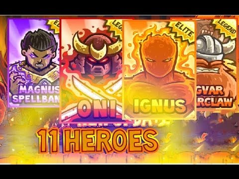 Kingdom Rush - 11 HEROES IN ACTION - Close Scene - New Update