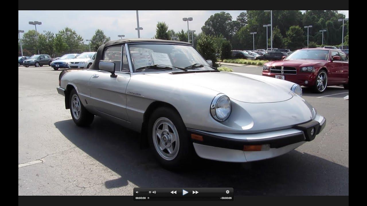 Alfa Romeo Spider Veloce 1982 - Viewing Gallery
