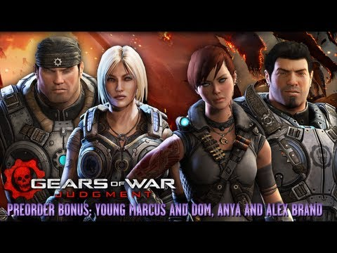 Gears of War: Judgment - Preorder Characters - Young Marcus, Young Dom, Anya Stroud and Alex Brand