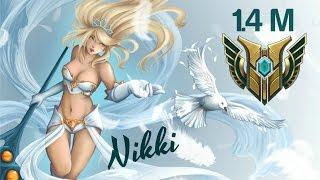 NIKKÏ (1.4M Mastery Points) JANNA DIAMOND ELO MONTAGE 2 - League of Legends S7