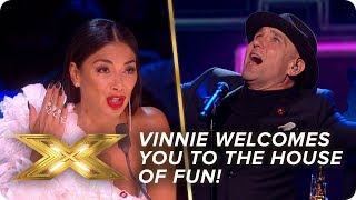Vinnie Jones welcomes you to the house of fun! | Live Week 3 | X Factor: Celebrity