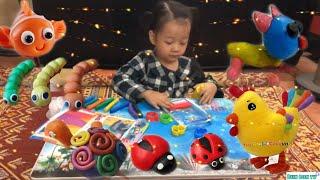 Đồ chơi trẻ em CreativeKids Bộ Đồ Chơi Đất Nặn ❤️BUN BON TV❤️