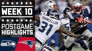 #4 Seahawks vs. Patriots | NFL Week 10 Game Highlights