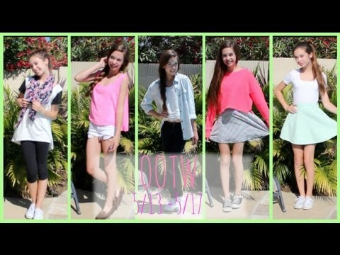 Outfits of the Week! ♡ 5/13 -5/17