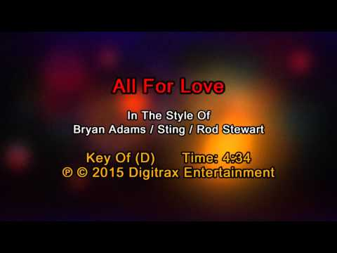 Bryan Adams, Sting & Rod Stewart  All For Love Backing Track