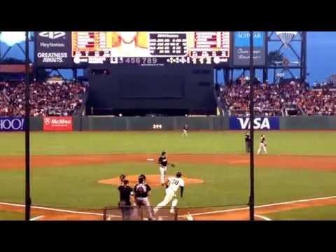 Michael Morse hits a home run! Giants vs Marlins, 5.15.2014