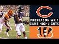Bears vs. Bengals Highlights   NFL 2018 Preseason Week 1