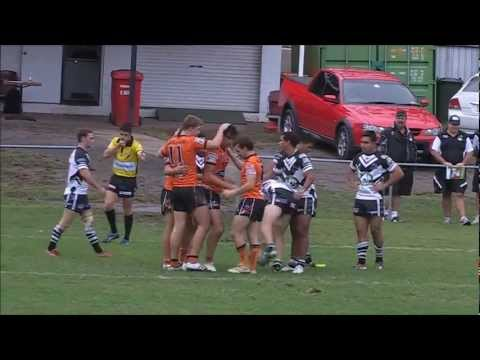 Match highlights from the round twelve 2012 IFOGS Colts clash between Souths Logan Magpies and Easts Tigers at Davies Park. Easts 30 (Wayne Kennedy, Daniel G...