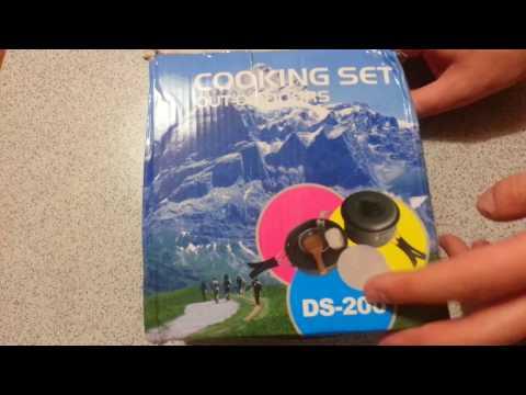 Посылка с Aliexpress: Набор посуды туристической