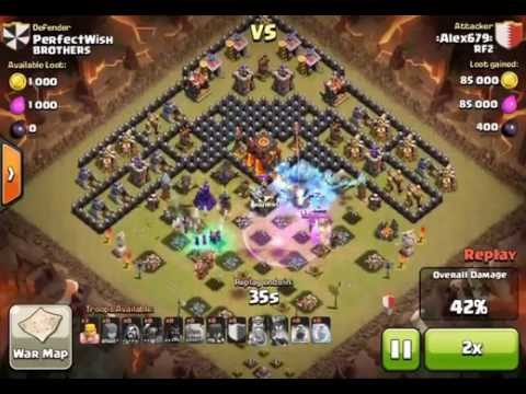 Clash of clans town hall 9 trophy war base 2015 anti gowiwi gowipe