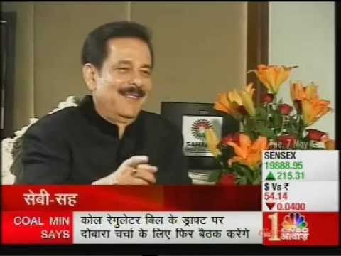 Saharasri Subrata Roy Sahara Exclusive Interview on CNBC Awaaz