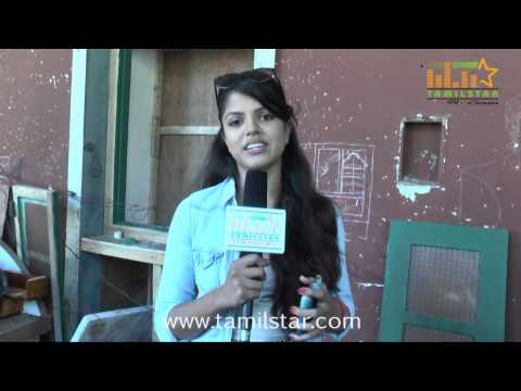 Actress Pooja Speaks At Andhra Mess Shooting Spot video