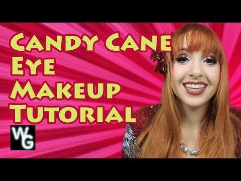 Candy Cane Eye Makeup Tutorial